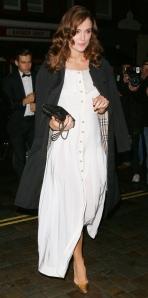 Kiera Knightly wearing Burberry topper.