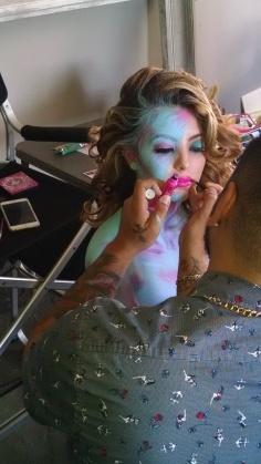 Makeup Artist-Chris Bustos body painting